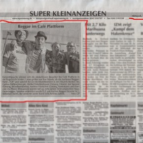 Supersonntag vom 14.11.2012 / TUF im Cafe Plattform (25.10.2012)