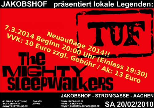 The Mighty Sleepwalkers & TUF im Jakobshof