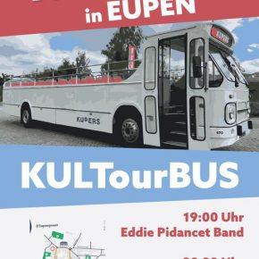 TUF fährt am 7.8.2021 in Eupen mit dem KULTourBUS